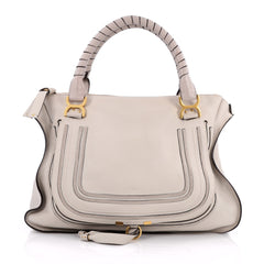 Chloe Marcie Shoulder Bag Leather Large Gray 2070203