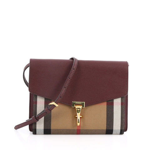 a5fc75ab3ae Buy Burberry Macken Crossbody Bag Leather and House Check 2072001 – Rebag