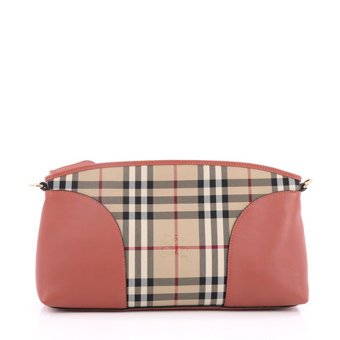 8c104b537333 Burberry. Chichester Crossbody Bag Horseferry Check Canvas and Leather Small