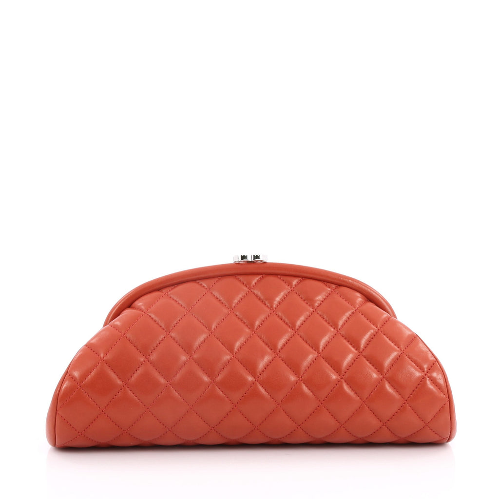 Buy Chanel Timeless Clutch Quilted Lambskin Red 2074702 – Trendlee : chanel quilted lambskin clutch bag - Adamdwight.com
