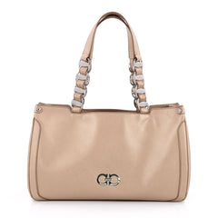 Salvatore Ferragamo Nicoletta Bag Saffiano Leather Neutral 2087201