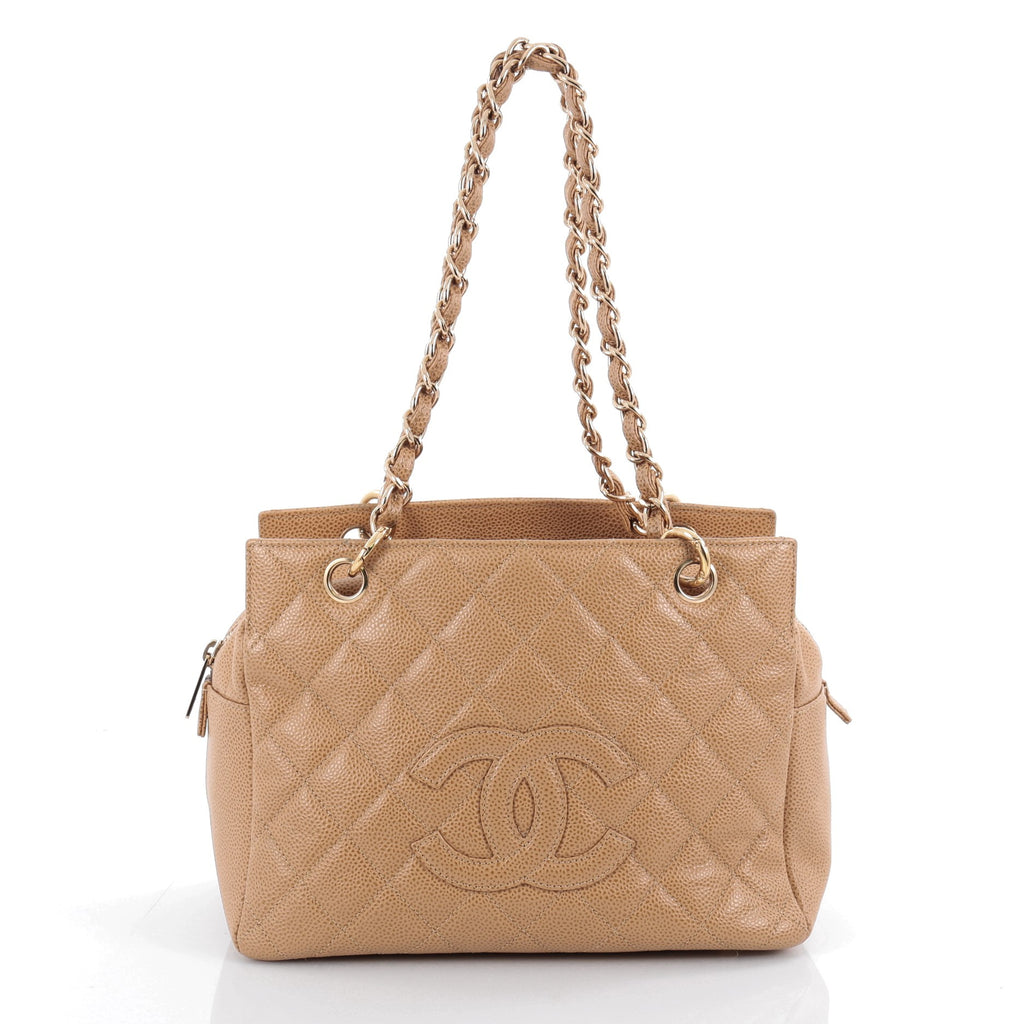 e271a17bc79b Buy Chanel Petite Timeless Tote Quilted Caviar Brown 2091902 – Rebag