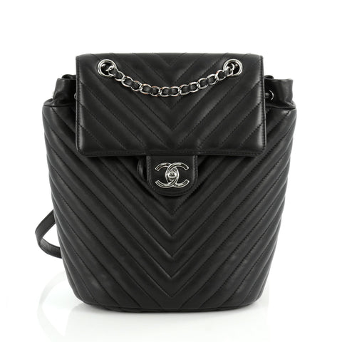 df7f0053e3f8 Chanel Urban Spirit Backpack Chevron Calfskin Small ...