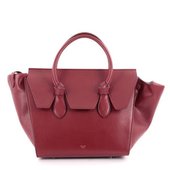 Celine Tie Knot Tote Smooth Leather Mini Red 2097901