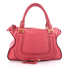 Chloe Marcie Shoulder Bag Leather Large Red 2100501