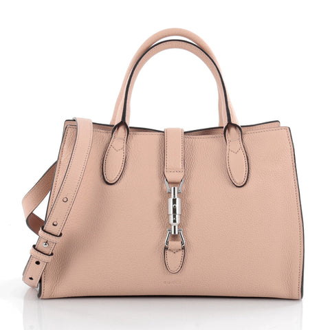 90fd32c0f99785 Buy Gucci Jackie Soft Tote Leather Small Neutral 2107604 – Rebag