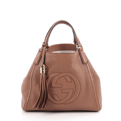 Gucci Soho Convertible Shoulder Bag Leather Small Brown 2111001