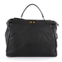 Fendi Peekaboo Handbag Leather Large Black 2111403