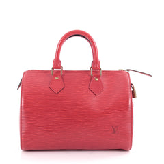 Louis Vuitton Speedy Handbag Epi Leather 30 Red