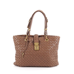 Bottega Veneta Capri Tote Intrecciato Nappa Small Brown 2112101