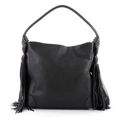 Christian Louboutin Eloise Fringe Leather Hobo Leather 2113901