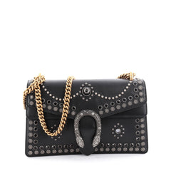 Gucci Dionysus Handbag Studded Leather Small Black