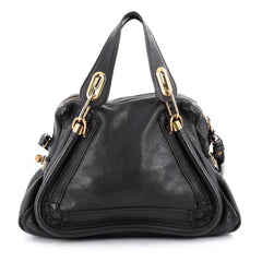 Chloe Paraty Top Handle Bag Leather Medium Black 2115601