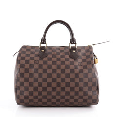 Louis Vuitton Speedy Handbag Damier 30 Brown 2118601