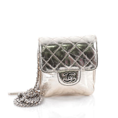 Chanel Wallet on Chain Flap Quilted Metallic Calfskin Mini Gold