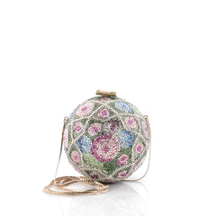 Judith Leiber Floral Minaudiere Crystal Small Green 2121709