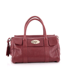 Mulberry Bayswater Satchel Leather Small Red 2126302