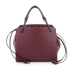 Bottega Veneta Convertible Drawstring Tote Intrecciato Nappa with Leather Small Red 2127301