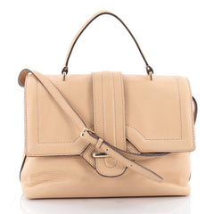 Tod's Passante Patta Media Satchel Leather Medium Neutral 2128301