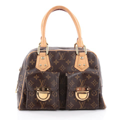 Louis Vuitton Manhattan Handbag Monogram Canvas PM Brown 2129601