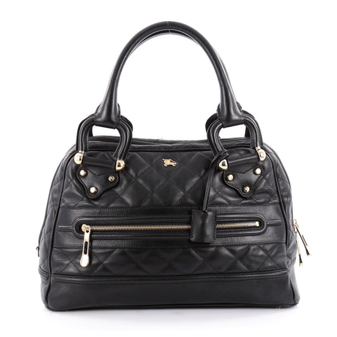 e5956dd89323 Buy Burberry Westbury Bag Quilted Leather Large Black 2130602 – Rebag