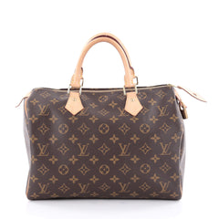 Louis Vuitton Speedy Handbag Monogram Canvas 30 Brown 2131001