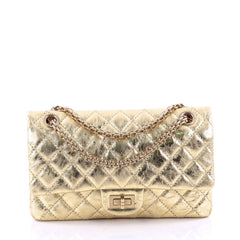 Chanel Reissue 2.55 Handbag Quilted Aged Calfskin 225 Gold