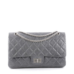 Chanel Reissue 2.55 Handbag Quilted Aged Calfskin 227 Gray