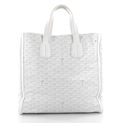 Goyard Voltaire Handbag Coated Canvas White 2136901