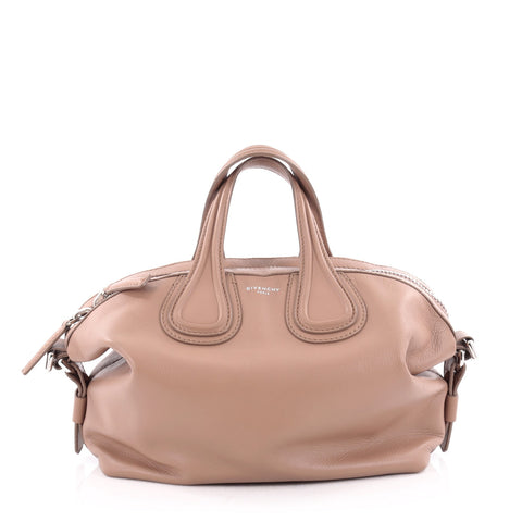 06610b1349 Buy Givenchy Nightingale Satchel Waxed Leather Small Neutral 2137501 – Rebag