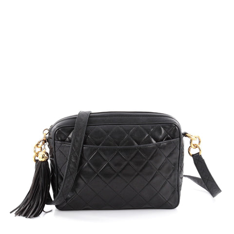 0800d6295294 Buy Chanel Vintage Camera Tassel Bag Quilted Leather Small 2145401 – Rebag