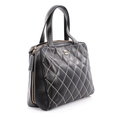 70e64c178d6f9b Buy Chanel Surpique Zip Around Satchel Quilted Leather Large 2150801 ...