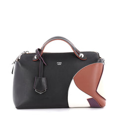 Fendi Marquetry By The Way Satchel Leather Small Black 2151801