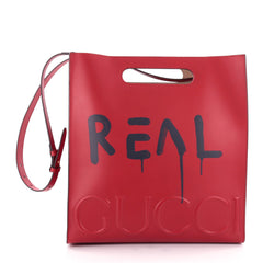 Gucci Tote GucciGhost Leather Medium Red 2152901