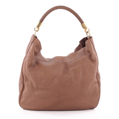 Saint Laurent Roady Hobo Leather Large Brown 2154201