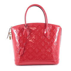 Louis Vuitton Lockit Handbag Monogram Vernis PM Red 2155301