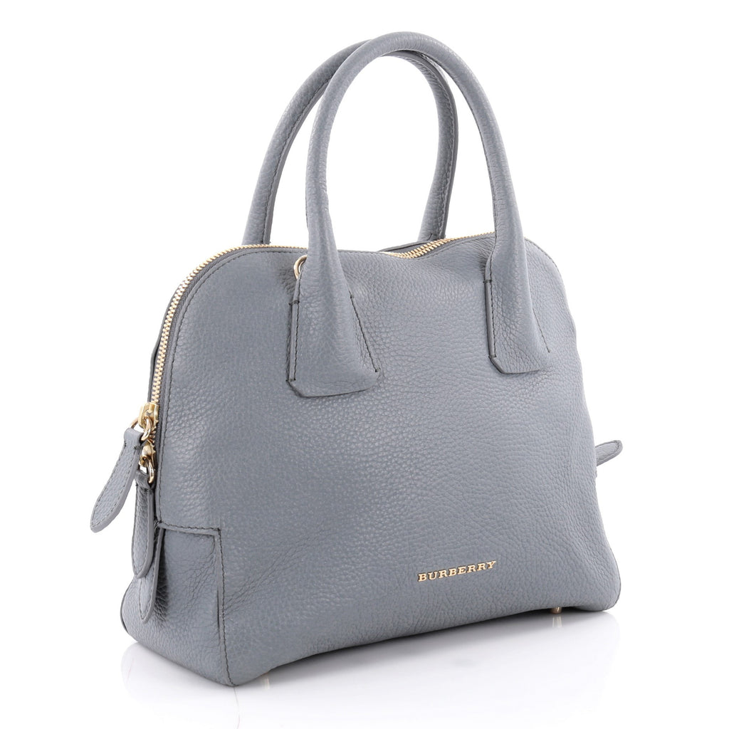 84d275e6ce Buy Burberry Greenwood Bowling Bag Grainy Leather Small Blue 2157303 ...