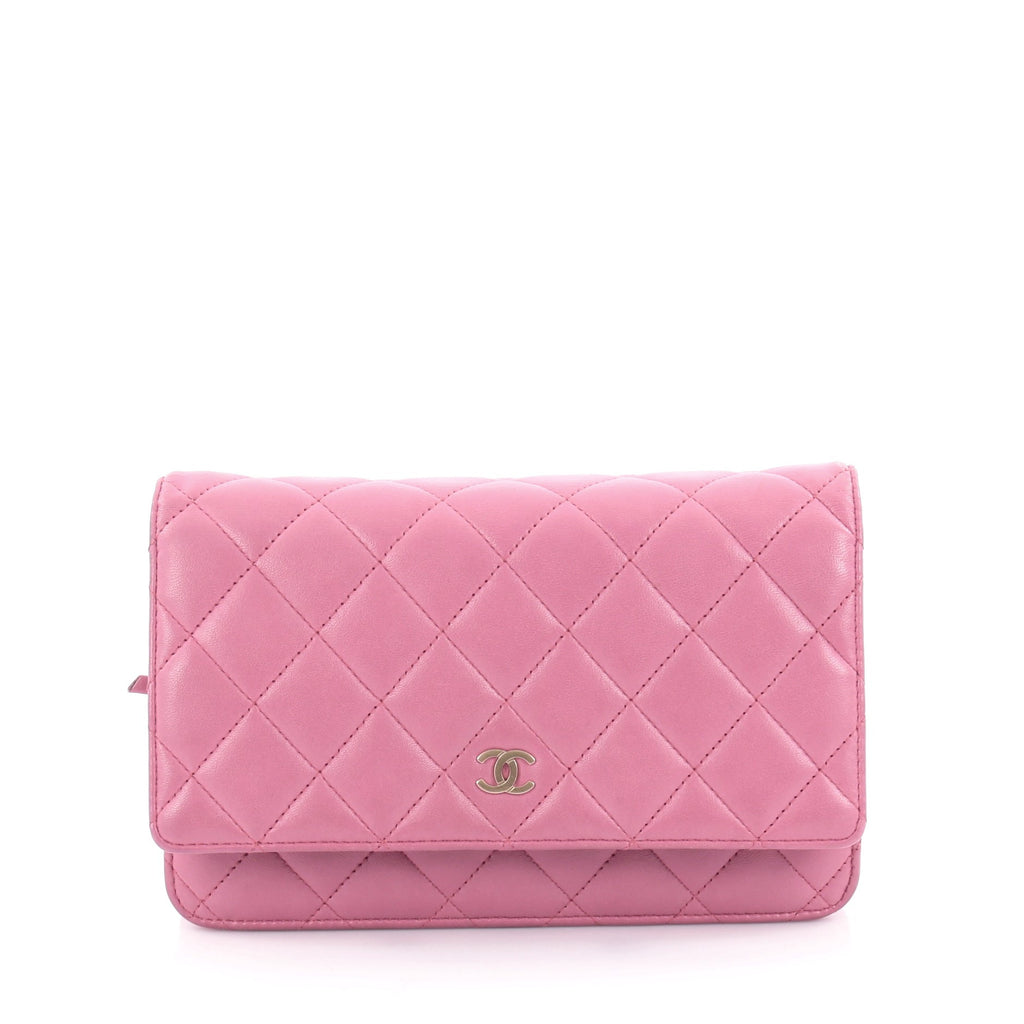 Buy Chanel Wallet on Chain Quilted Lambskin Pink 2162404 – Rebag 8df1e29a679a5