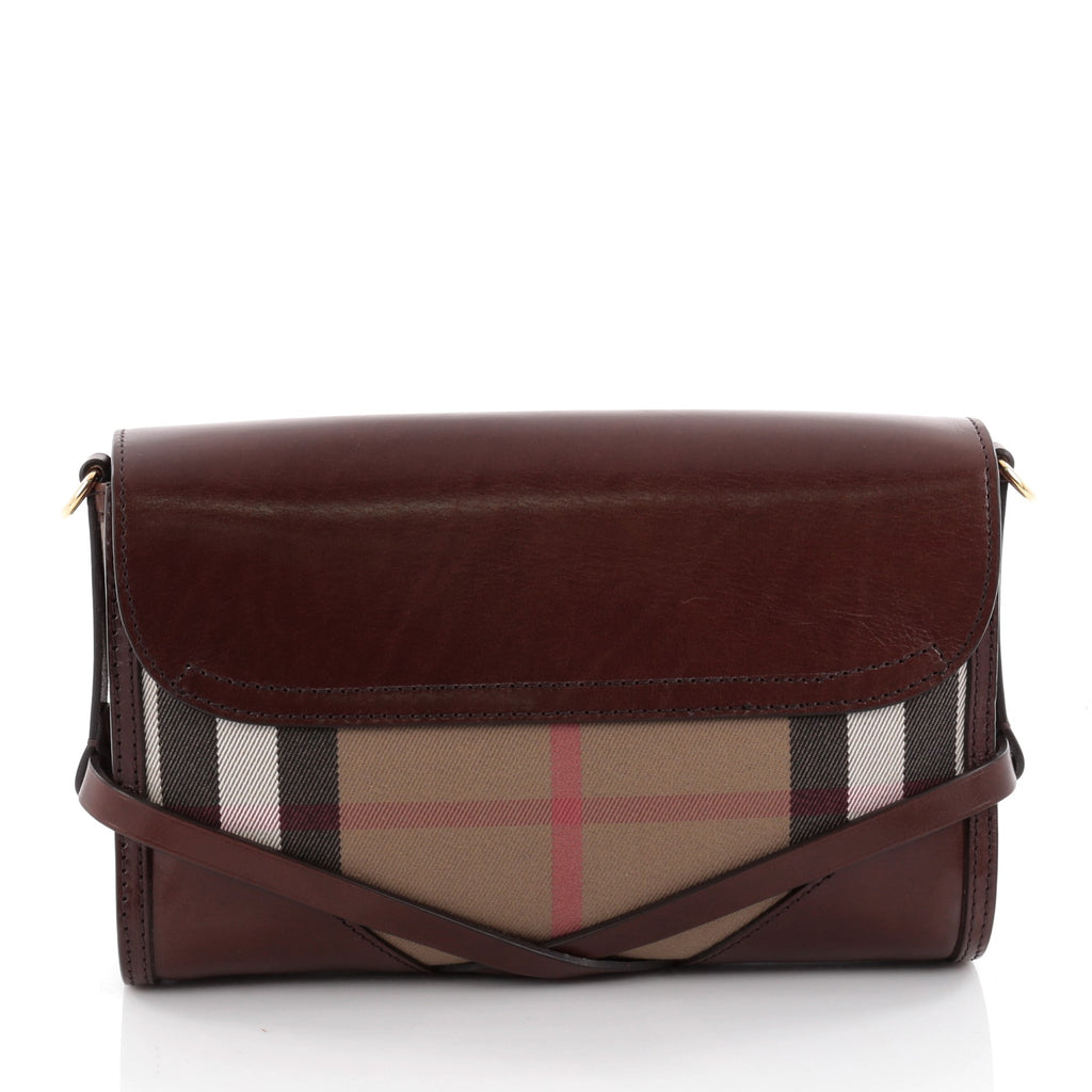 5a541238081f Buy Burberry Bridle Abbott Crossbody House Check Canvas and 2163002 ...