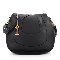 Chloe Hayley Hobo Leather Large Black 2163901