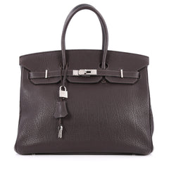Hermes Birkin Handbag Brown Fjord with Palladium 2165802