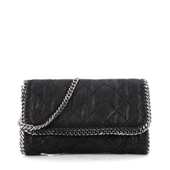 Stella McCartney Falabella Flap Bag Quilted Faux Leather Black 2167501