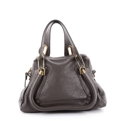 Chloe Paraty Top Handle Bag Leather Small Brown