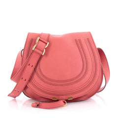 Chloe Marcie Crossbody Bag Leather Medium Pink 2168004