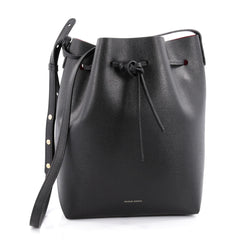 Mansur Gavriel Bucket Bag Leather Large Black