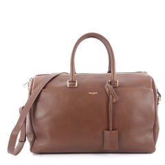 Saint Laurent Classic Duffle Bag Leather 12 Brown