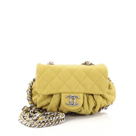095c5d26cffb Buy Chanel Chain Around Flap Bag Quilted Leather Small 2169903 – Rebag