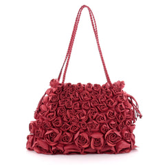 Valentino Rose Tote Nappa Leather Large Red