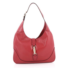 Gucci Jackie Original Shoulder Bag Leather Medium Red 2169907