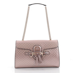 Gucci Emily Chain Strap Flap Bag Microguccissima Leather pink 2172002